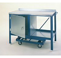 Steel Heavy Duty Mobile Workbench with Single Cupboard
