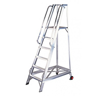 12 Tread Aluminium Warehouse Step Ladder