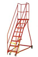 Extra Heavy-Duty Mobile Safety Step - Ribbed Rubber Treads