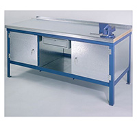 Wood   Steel Top Heavy Duty Bench