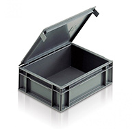 Snap-Shut Attached Lid Container
