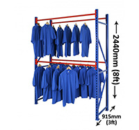 Longspan Garment Racking Starter Bay