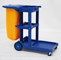 Cleaning Trolley with Bag   Lid
