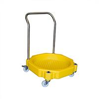 4 Wheel Drum Dolly W/Handle 30Ltr Bund
