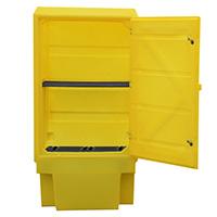 Lockable Storage Cab W/Shelf 225Ltr Bund