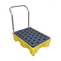 Spill Tray W/Wheels Handle   Grid 66Ltr