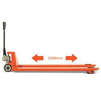 3000mm x 540mm 2000kg Extra Long Fork Hand Pallet Truck