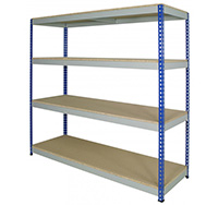 300kg Medium Duty Rivet Racking Bay with 4 Shelves