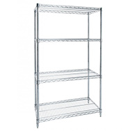 Thumbnail Flat Shelf Chrome Wire Shelving Bay