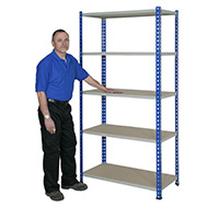 150kg Budget Rivet Racking Bay with 5 Shelves