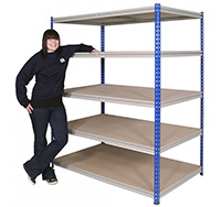 250kg Z Rivet Racking Bay with 5 Shelves