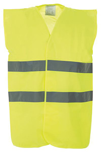 High Vis 2 Band Waistcoat - Yellow - Med