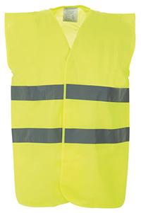 High Vis 2 Band Waistcoat - Yellow - XL