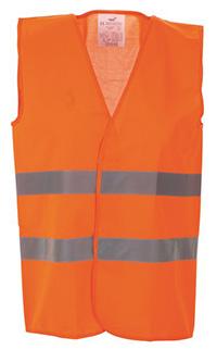 High Vis 2 Band Waistcoat - Orange - Med