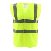 High Vis 2 Band Waistcoat - Yellow Security - Med