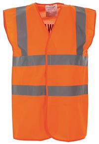 High Vis 2 Band Waistcoat - Orange Fire Warden - Med
