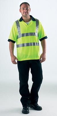 High Visibility Polo Shirt - Med