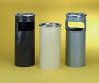 Combined Ash Stand   Litter Bin - Black