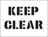 300 x 400mm Keep Clear Car Park Stencil