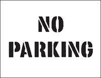 300 x 400mm No Parking Car Park Stencil
