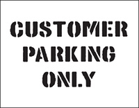 300 x 400mm Customer Parking Only Car Park Stencil