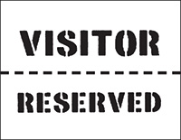 300 x 400mm Visitor/Reserved Car Park Stencil