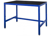 Medium Duty Workbench with Rubber bonded to Steel Top - 500kg UDL - 1200mm Wide