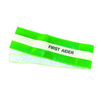 High Vis Armband - First Aider  Green only