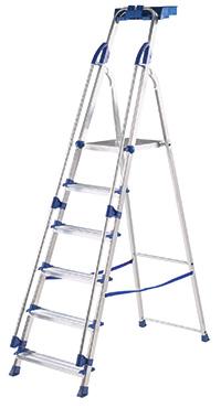 Professional Aluminium Folding Steps - 7 Treads
