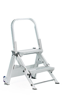Easy Slope Aluminium Folding Leader Ladders with ribbed rubber treads