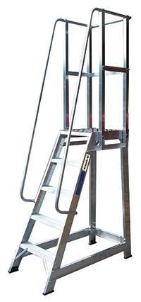 Climb It Aluminium Trade Stepladder With Handrails - 3 Tread