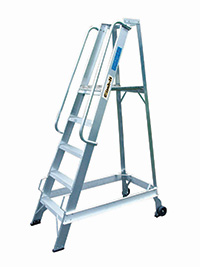 Climb It Aluminium Warehouse Step - 8 Tread