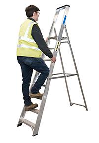 Climb It Aluminium Platform Stepladder - 12 Tread