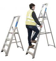 Climb It Aluminium Platform Stepladder - 12 Tread   Handrails