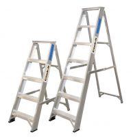 Climb It Aluminium Trade Swingback Stepladder - 12 Tread   Handrails