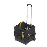 Black Folding Box Trolley With Compartment Bag