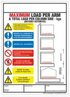 Weight Load Identification - Cantilever Racking Weight Load