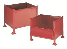 Heavy Duty Stackable Box Pallet C/W 1/2 Drop Side - 609X1220X915