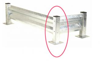 Heavy Duty Barrier System - Post - Galvanised - 510mm