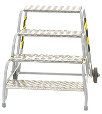 Fort Buttress Steps  No of Treads  4 - Aluminium Treads - Painted