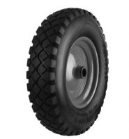 Black Pneumatic Tyre  Black Metal Ctr Wheel - 300mm
