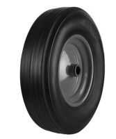 Black Solid Rubber Tyre  Black Metal Ctr Wheel - 355mm - Ball