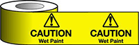 Barrier Warning Tape - 75mm x 100m - Caution Wet Paint