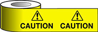 Barrier Warning Tape - 75mm x 100m - Caution