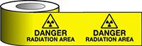 Barrier Warning Tape - 75mm x 100m - Danger Radiation Area