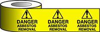 Barrier Warning Tape - 75mm x 100m - Danger Asbestos Removal