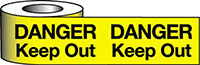Barrier Warning Tape - 75mm x 100m - Danger Keep Out