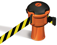 Skipper Retractable Barrier - Yellow and Black Tape