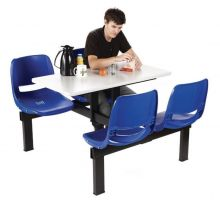 Canteen Tables - No of seats - 4  Peninsula units - Access 1 way