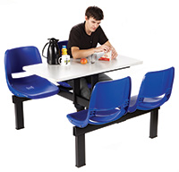 Canteen Tables - No of seats - 4  Island units - Access 2 way